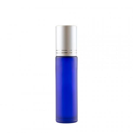 Recipient Roll-On mini sticla Albastra mata 10 ml