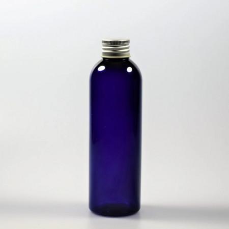 Sticla PET albastra 100ml cu capac de aluminiu