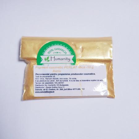 Pigment cosmetic perlat mica 10 gr Auriu