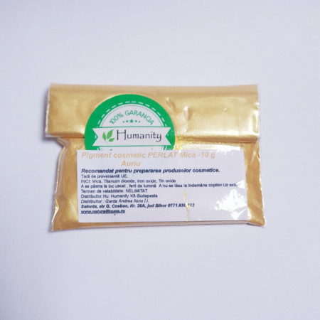 Pigment cosmetic perlat mica Auriu 10 gr