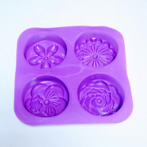 Matrita modelaj din silicon pentru sapun - Floral