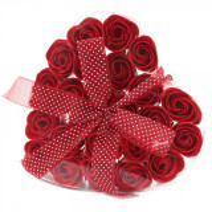 Set cadou 24 flori de sapun - trandafiri rosii