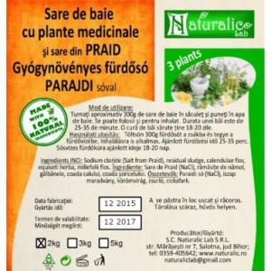 Sare de baie cu 3 plante medicinale -Praid- 2kg
