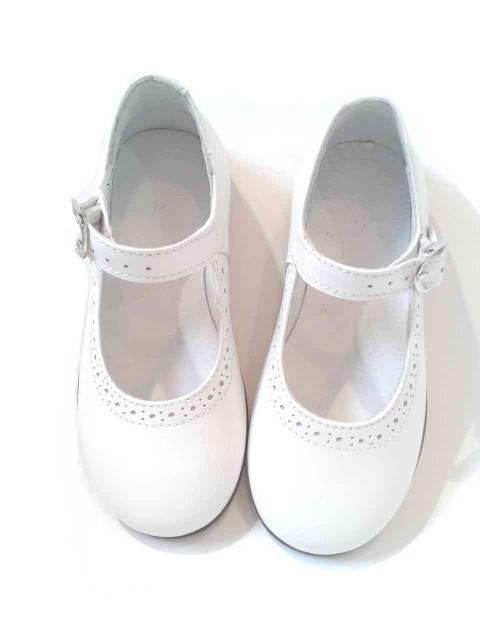 prezzo competitivo d6771 ad65d Ballerine bambina mary jane scarpe bianche eleganti in pelle