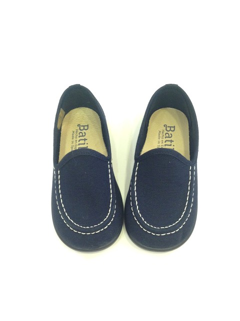 49da1f2c5 Mocassini bambino scarpe estive eleganti college tela blu cerimonia immagini