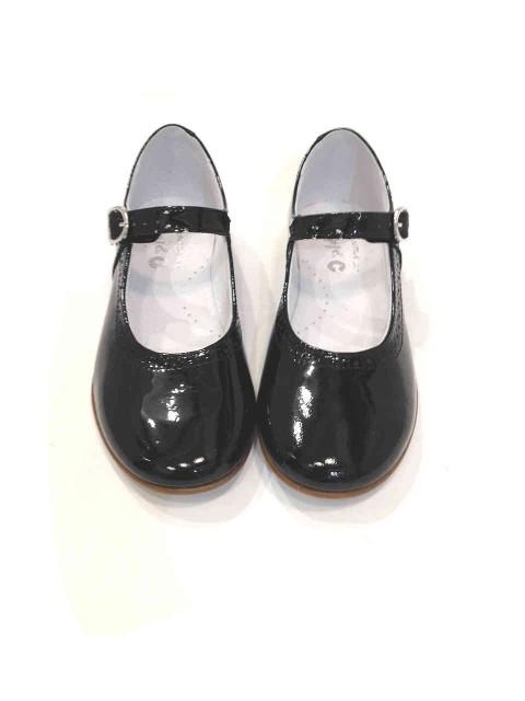 4130368939 Scarpe bambina ballerine Mary Jane nere lucide vernice