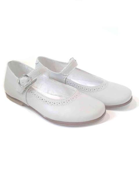 spesso Ballerine bambina Mary Jane scarpe eleganti in pelle grigio perla EU57