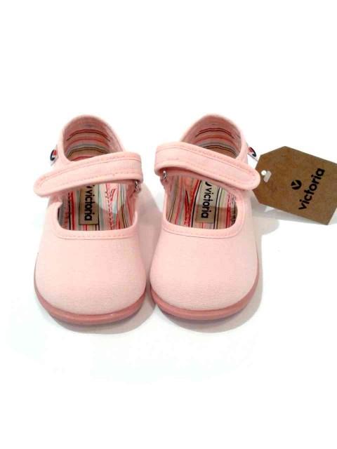 new product fe34a 4fa42 Scarpe bimba ballerine estive tela rosa Victoria art 02706
