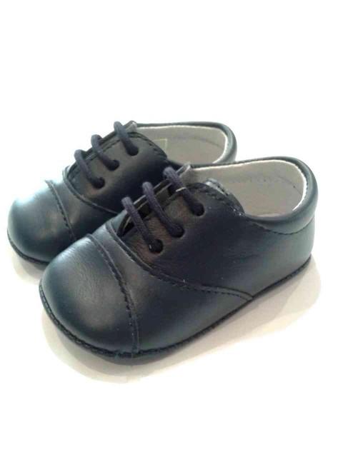 buy online a1305 2c225 Scarpine neonato battesimo francesine pelle blu