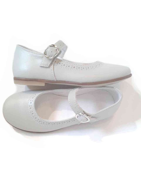 Amato Ballerine bambina Mary Jane scarpe eleganti in pelle grigio perla OX06