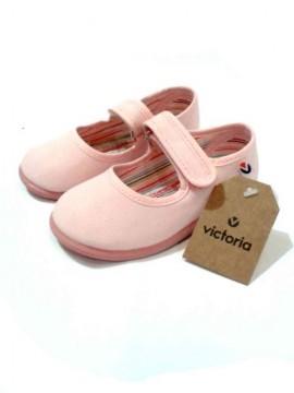 Scarpe bimba ballerine estive tela rosa Victoria art 02706 immagini