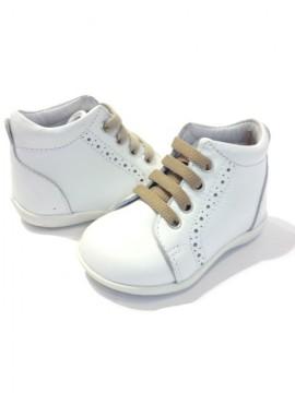 sneakers for cheap 599bf 42768 Scarpine anatomiche primi passi bimbo inglesine stringate bianche