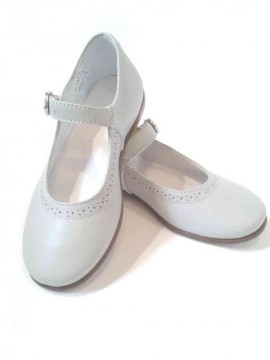 Ballerine bambina Mary Jane scarpe eleganti in pelle grigio perla immagini