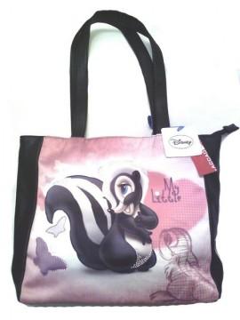 Borsa ragazza grande con manici shopping bag nera pelle Disney Fiore idee regalo online immagini