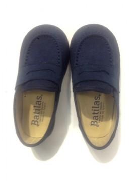 Mocassini bambino in velour scarpe eleganti college blu cerimonia immagini