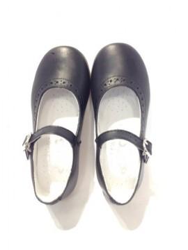 Ballerine bambina Mary Jane 28 scarpe blu eleganti divisa cinturino immagini