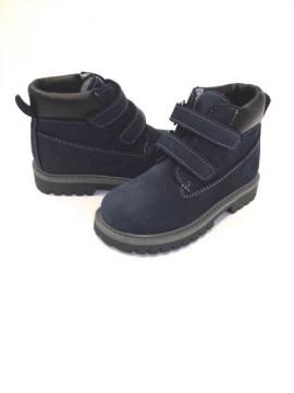 Scarpe invernali bambino scarponcini 30 apertura veloce con velcri nabuk blu immagini