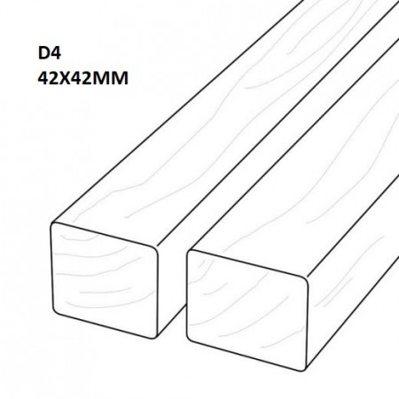 Fatada D4 Pin Termotratat 42x42mm desen
