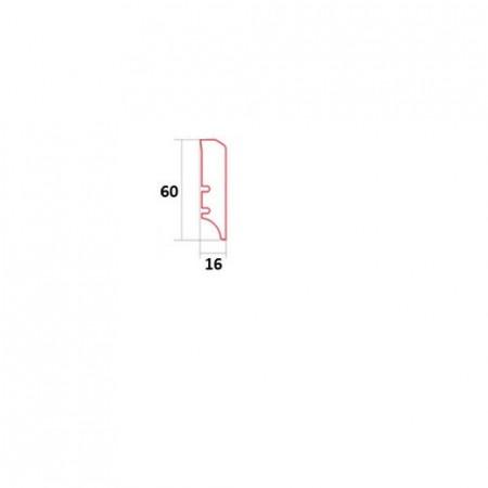 schita plinta alba 60x16mm