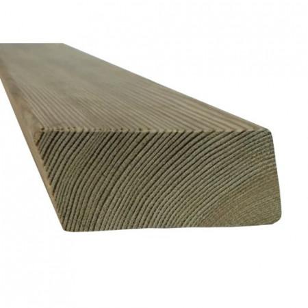 Profil fatada ventilata lemn Larice Siberian profil sectiune