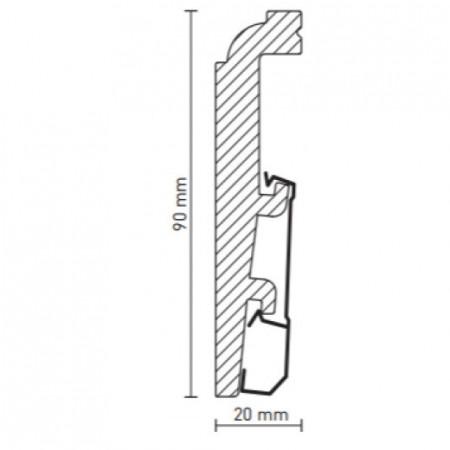 schita plinta 90/20mm Duropolimer Alb Metz