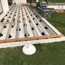 substructura deck aluminiu montaj