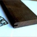 Fatada Frasin Termotratat Imbinat 100*26 mm Neted, Profil Simetric