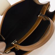 Geanta dama din piele naturala Cognac Lalia by KROLE