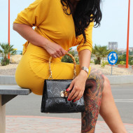 Poseta dama din piele naturala Neagra Iris by Lisa Minardi