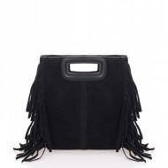 Geanta dama din piele naturala Neagra Leyla by Massimo Castelli