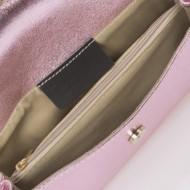 Plic dama din piele naturala Roz Sidefat Ysabelle by Giulia Massari