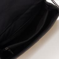 Geanta dama din piele naturala Neagra cu lant Vittoria by Massimo Castelli