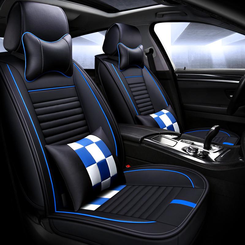 Huse Auto Negru + Albastru