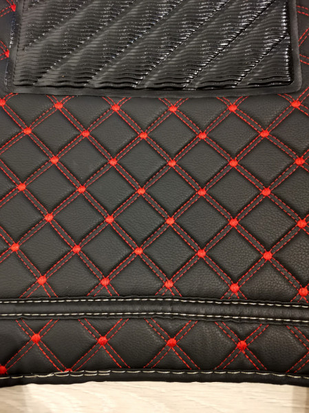 Covorase auto Hyundai ix 35 , negru cu fir rosu