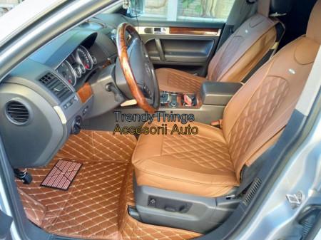 Covorase Auto Volkswagen Touareg 2012+ Maro Deschis