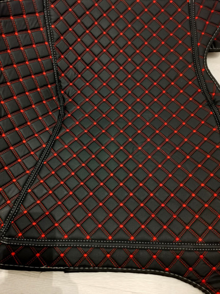 Covorase auto BMW X5 E70 negru cu fir rosu