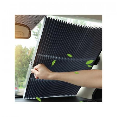 Parasolar Auto Retractabil Impotriva Razelor UV, Fixare Prin Ventuze