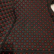 Covorase auto BMW serie 5 F10 negru fir rosu