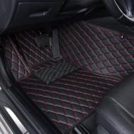 Covorase auto Mercedes E Class W211; negru cu fir rosu