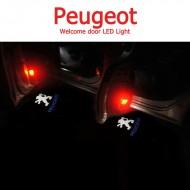 Proiector 3D Peugeot cu led pentru portiera