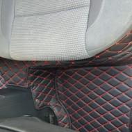 Covorase auto Hyundai Tucson 3  , negru cu fir rosu