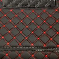 Covorase auto Range Rover Sport 2008- 2011 negru fir rosu