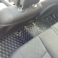 Covorase auto Mercedes E Class W211; negru cu fir bej