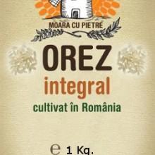 Orez integral cultivat in Romania, punga 1 Kg.