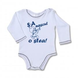 "Body bebe cu mesaj ""S-a nascut o stea"""