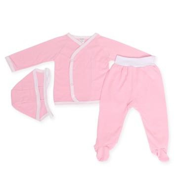 Costumas roz cu trei piese