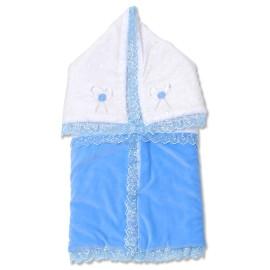 Port bebe din catifea bleu