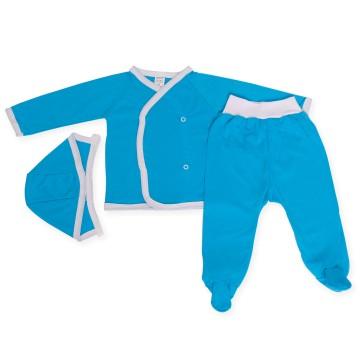Costumas turquoise cu trei piese