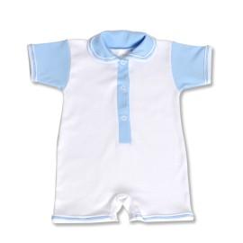 Salopeta scurta bleu pentru bebe