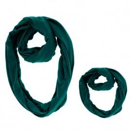 Set esarfa mama si copil - verde inchis